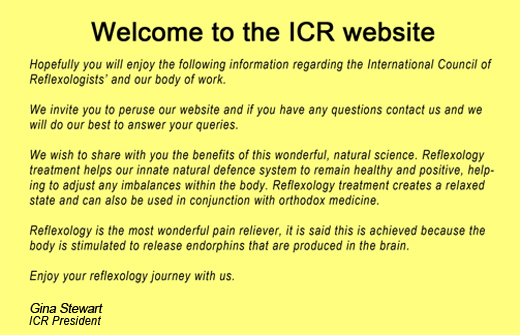 Welcome to the ICR website.